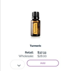 DōTERRA 15 ml Turmeric Essential Oil